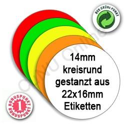 runde Etiketten 14mm Kreis runde Preisetiketten 14mm