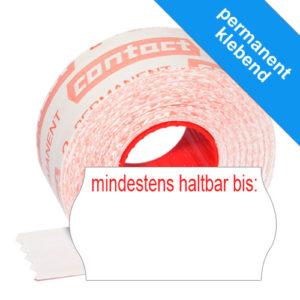 """1500 MHD Etiketten 22x12mm Datumsetiketten mit Aufdruck """"mindestens haltbar bis:"""""""