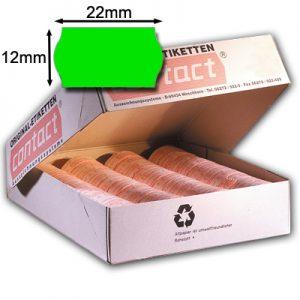 grüne 22x12mm contact Preisetiketten mit Wellenrand