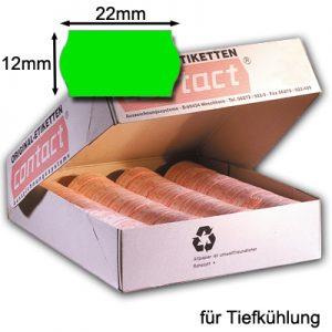 Tiefkühletiketten 22x12mm grün