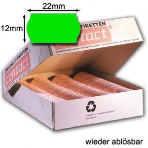 ablösbare grüne Etiketten 22x12