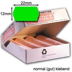 grüne Etiketten 22x12mm normal klebend