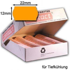 leuchtend orange 22x12mm TK Tiefkühletiketten