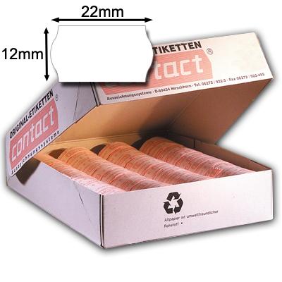 weiße Preisetiketten 22x12mm Etiketten Wellenrandetiketten 22 x 12mm weiß