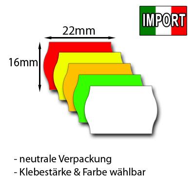 günstige Etiketten 22x16mm