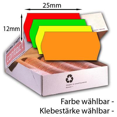 farbige 25x12mm Preisetiketten, bunte Etiketten 25×12