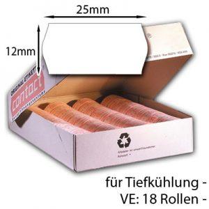 Tiefkühletiketten 25x12mm TK-Etiketten 18 Etikettenrollen