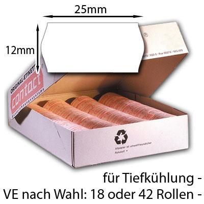 weiße Tiefkühletiketten 25x12mm