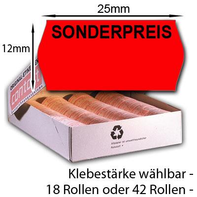 rote Sonderpreisetiketten 25x12mm