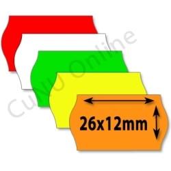 Preisetiketten 26x12mm Wellenrand Etiketten