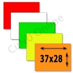 rechteckige Preisetiketten 37x28mm Etiketten