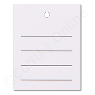 linierte Kartonetiketten, weiß, 35x45mm einzeln geschnitten 250g/m² Offsetkarton