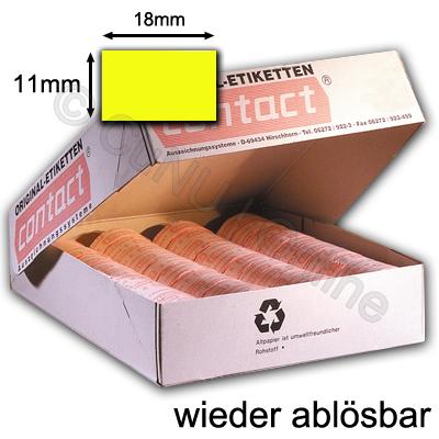 ablösbare Etiketten 18x11mm für contact Handauszeichner