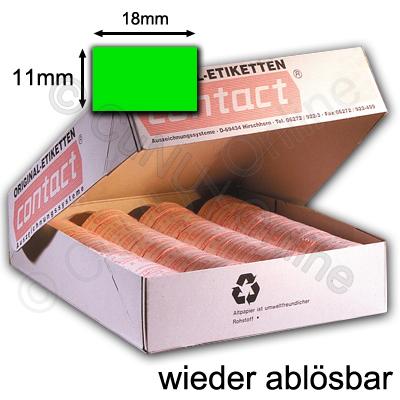 wieder ablösbare 18x11mm Etiketten, Preisetiketten contact