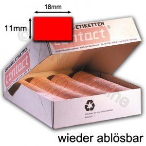 rote ablösbare Etiketten 18x11mm