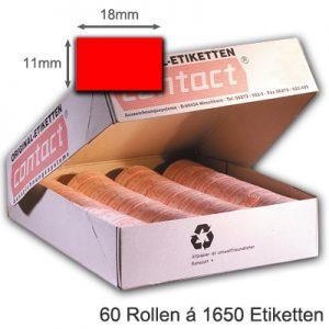 Etiketten 18x11mm leuchtrot