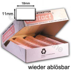 weiße 18x11mm Etiketten für Auszeichner