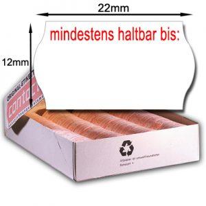 """MHD Etiketten 22x12mm Datumsetiketten für Mindesthaltbarkeitsdatum – Etiketten mit Aufdruck """"mindestens haltbar bis:"""""""