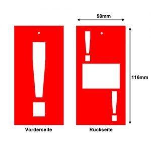 Aktions-Etiketten zum Anhängen - Motiv: ! Ausrufezeichen im Format 58x116mm
