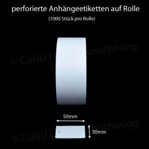 Anhänge-Etiketten 30x50mm auf Rolle