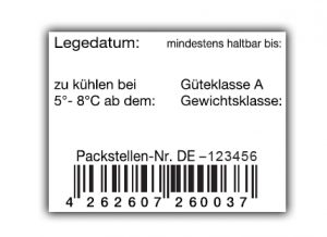 Eier Etikett EAN Code
