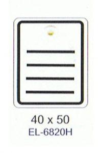 liniertes 40x50mm Kartonetikett mit Plastiköse