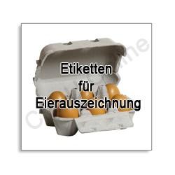 Eierkennzeichnung - Etiketten für Eierkartons, Eierauszeichnung