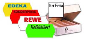 Preisetiketten mit Logo und Firmenname