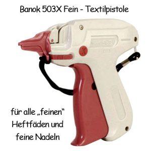 Heftpistole Banok 503X Fein Etikettierpistole mit feiner Nadel