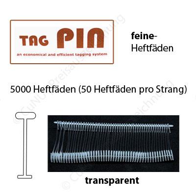 Feine Heftfäden TagPin für Textilpistolen mit feiner Nadel | Länge wählbar 20mm, 35mm, 50mm, 65mm