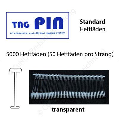 Standard Heftfäden TagPin für Standard Textilpistolen | Länge wählbar 15mm, 25mm, 40mm, 65mm, 125mm