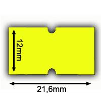 gelbe Irex Etiketten 21x12mm 21,6x12mm Etimark Preisetiketten