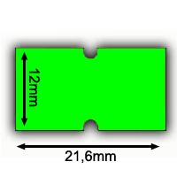 irex etiketten etimark 21,6 x12mm grün leuchtgrün neongrün