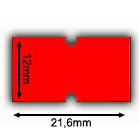 rote Lochetiketten Irex 21,6x12mm