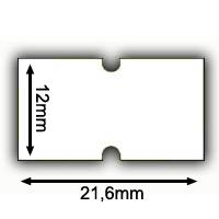 21,6x12mm Lochetiketten Irex Etimark Etiketten 21x12