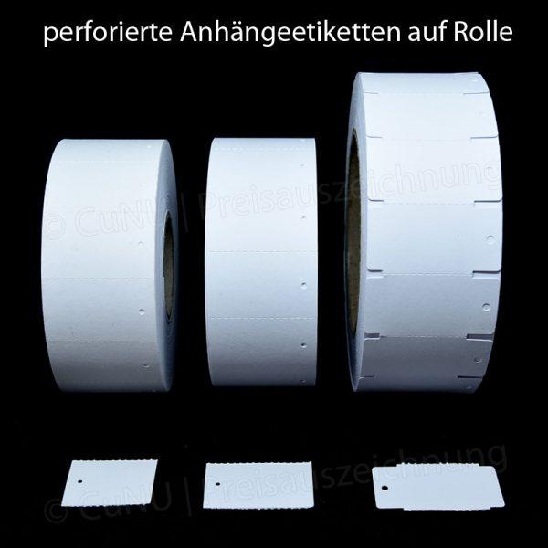 1000 weiße Endlosetiketten, Rollenetiketten 30x40mmmm, 30x50mm, 30x58mm aus 250g/m² Offsetkarton