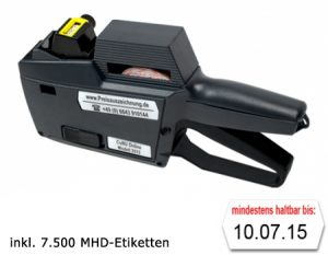 Auszeichner inkl. MHD Etiketten