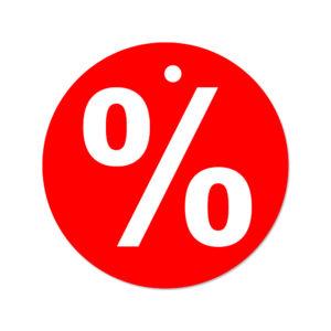 Prozent Anhänger rund Ø 50mm