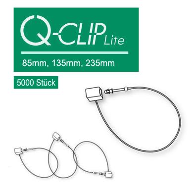 Sicherheitsfäden Q Clip Lite 85mm, 125mm oder 235mm Textilauszeichnung OHNE Etikettierpistole