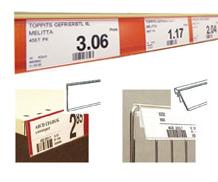 Scannerschienen, Scannerprofile, Regalleisten, perforiertes Papier, Regaletiketten