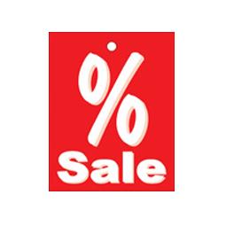 Aktionsetiketten Prozent Sale 500 Einzeletiketten im Format 40x50mm (Druck einseitig)