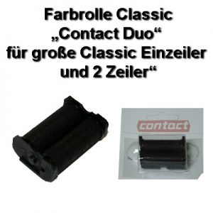 Farbrolle, Stempelkissen, Farbrwalze contact Duo