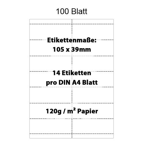 Scanner Etiketten 105x39mm für Preisleisten an Regalen, perforiertes DIN A4 Papier für Scannerschienen