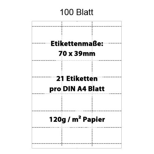 Perforiertes Papier, 70x39mm Etiketten für Regalleisten, Preisleisten, Scannerprofile, Scannerschienen