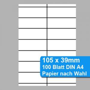 Scanner-Etiketten 105x39mm, perforiertes Papier für Preisleisten