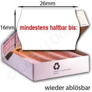ablösbare MHD Etiketten 26x16mm
