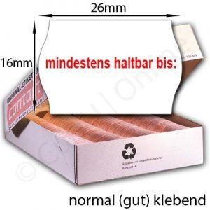 gut klebende MHD-Etiketten 26x16mm