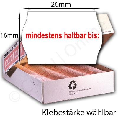 MHD Etiketten für Mindesthaltbarkeit