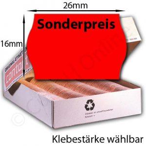 Sonderpreisetiketten 26x16mm Eindruck oben