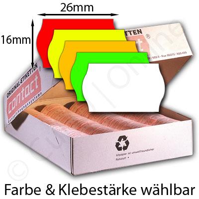 26x16mm Etiketten mit gewölbtem Rand